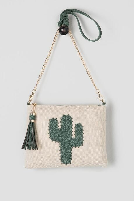Cactus Canvas Crossbody Clutch #francescas