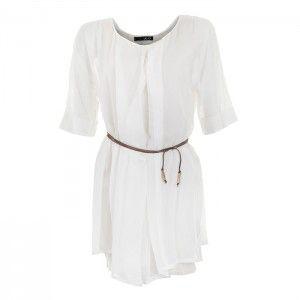 Liu Jo - biała sukienka tunika - Fashioncode.pl
