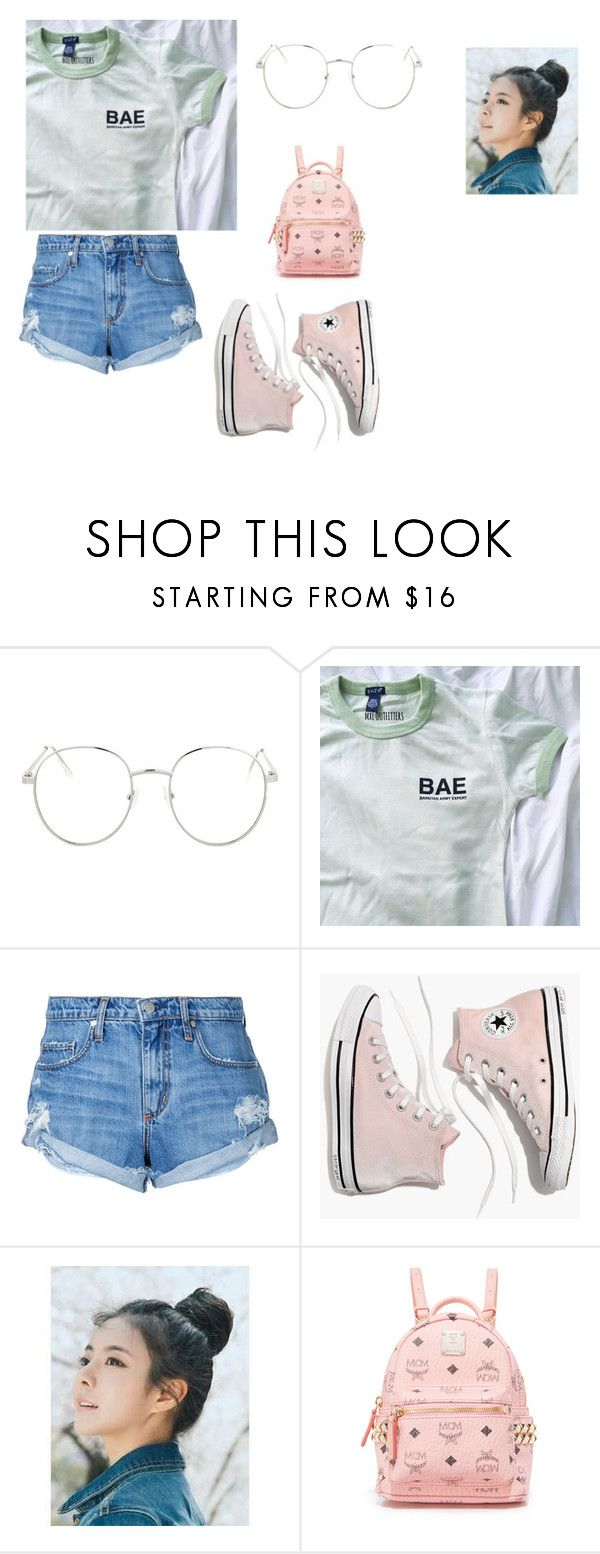 """BAE"" by kylakirkpatrick on Polyvore featuring Topshop, Nobody Denim, Madewell, pinkage and MCM"