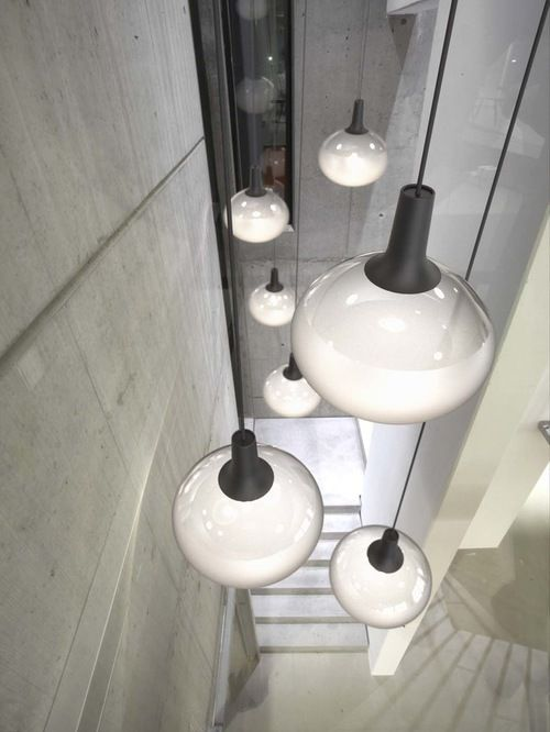 Cluster of 'Dee' Hanging Lights by Nordlx - Blown glass with LED light source