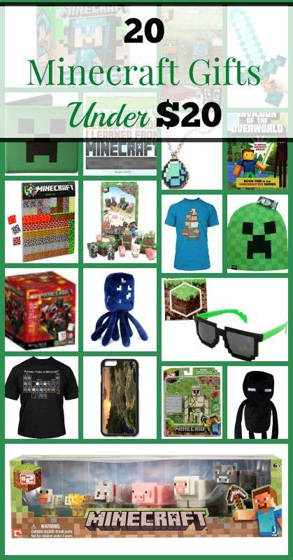 20 Minecraft Gifts Under $20 #minecraftgiftideas #giftideasforgamers #giftideasforkids