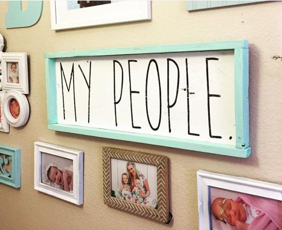 My people sign  home decor  wall decor  hand painted wood sign  distressed  wood sign  family wall decor  farmhouse sign  framed wall decor. 17 Best ideas about Frame Wall Decor on Pinterest   Framed wall