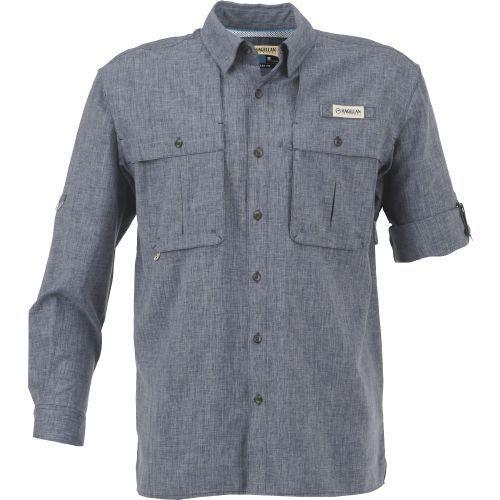 4c1d5a7e Magellan Outdoors Men's Aransas Pass Heather Long Sleeve Fishing Shirt  (Navy, Size Medium) - Men's Outdoor Apparel, Men's Fishing Tops at Academy  S..