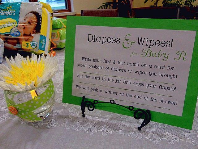 baby shower raffles ideas | baby shower diaper raffle favor