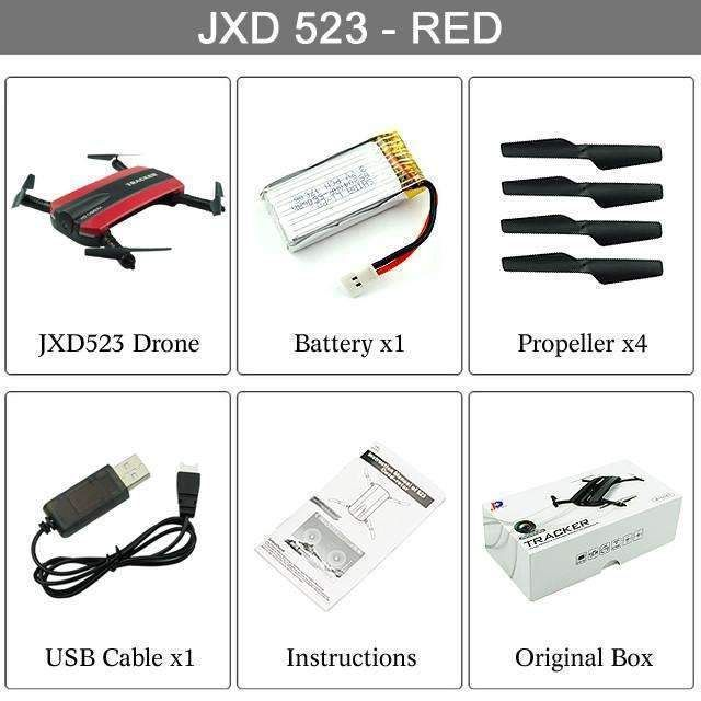 Jxd523 Tracker Foldable Pocket Quadcopter Mini Selfie Jxd