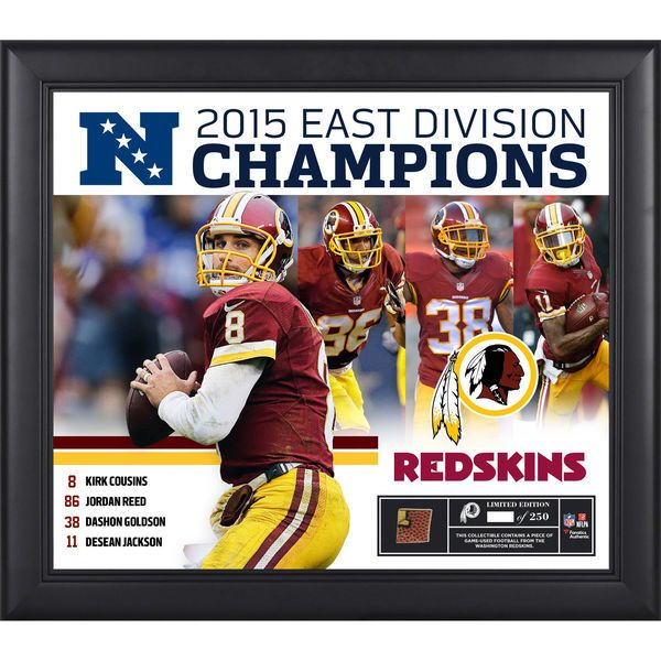 "Washington Redskins 2015 NFC East Division Champions Framed 15"" x 17"" Collage with a Piece of Game-Used Football - Limited Edition of 250 - $89.99"