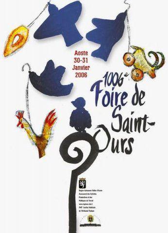 Valle d'Aosta - La Fiera di Sant'Orso (La Foire de Saint Ours) - Aosta - Manifesto 30/31 gennaio 2006