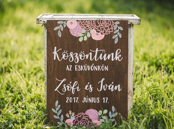 DEKORTÁBLA Üdvözlőtábla esküvőre  Köszöntünk az esküvőnkön  Welcome sign