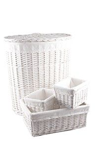 4 PIECE LINED LAUNDRY SET