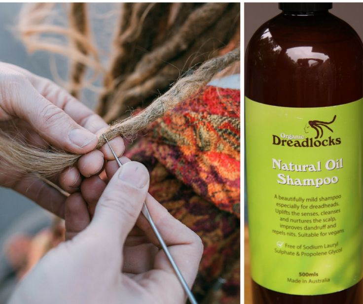 Crochet Hook Dread Tool + Organic Dreadlocks Natural Oil Shampoo - Dread Care Pack from Mountain Dreads