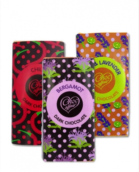 3 Fairtrade Chocolate Bars from Choc Affair. Nice wrappers!