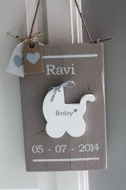 Geboortebord Baby