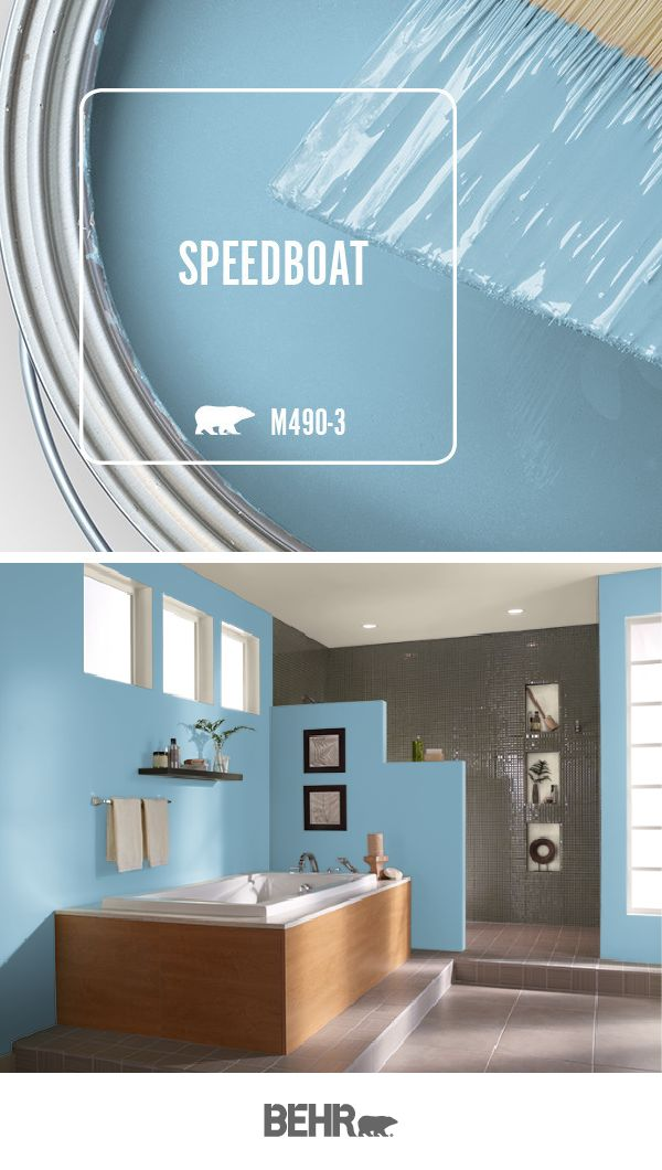 The Sky Blue Hue Of Speedboat By Behr Paint Is The Perfect