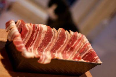 Toetjes als ontbijt: Meatloaf met bacon