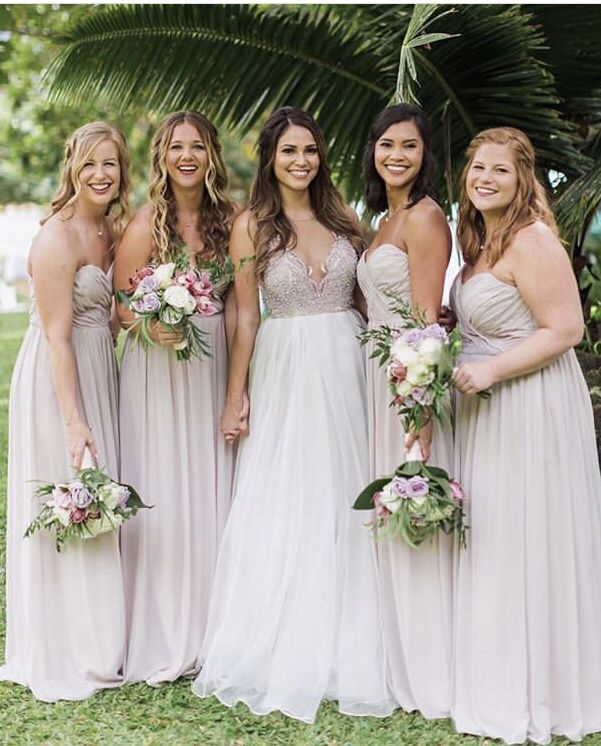af47a07eed3b0 Destination Hawaii Wedding/ Cashmere Hayley Paige Occasions #Bridesmaid  Dresses #hayleypaige Kenny #WeddingDress