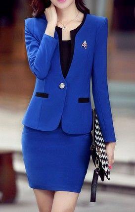 Latest Elegant Women Office Skirt For Work Black Pink