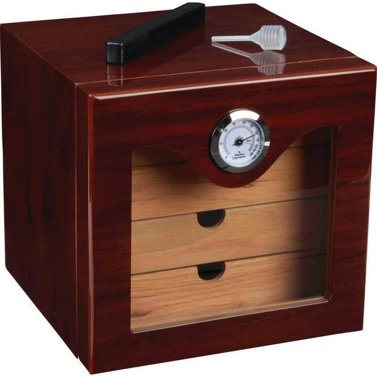 Lined humidor hygrometer cigar kassel cedar Brown new Free Shipping