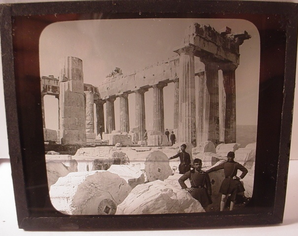 Antique RARE Glass Negative Athens Photo Parthenon Greek Army Greece | eBay