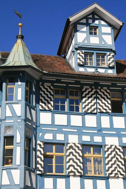 A picturesque half-timbered house in St Gallen, Northeastern  Switzerland.