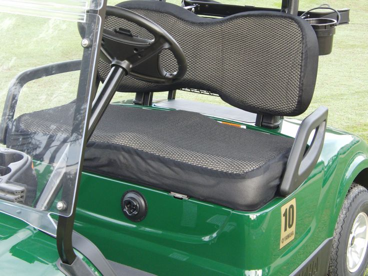 Golf cart seat covers that keep you cool in the sun and dry in the rain.  Perfect for all golf cart users.  Order now for Christmas. World wide shipping.  www.cooldrycovers.com