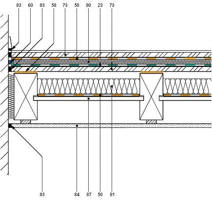 03 Isolation phonique, plafond, assainissement par le haut - Ampack, pour la protection intégrale de l'enveloppe du bàtiment