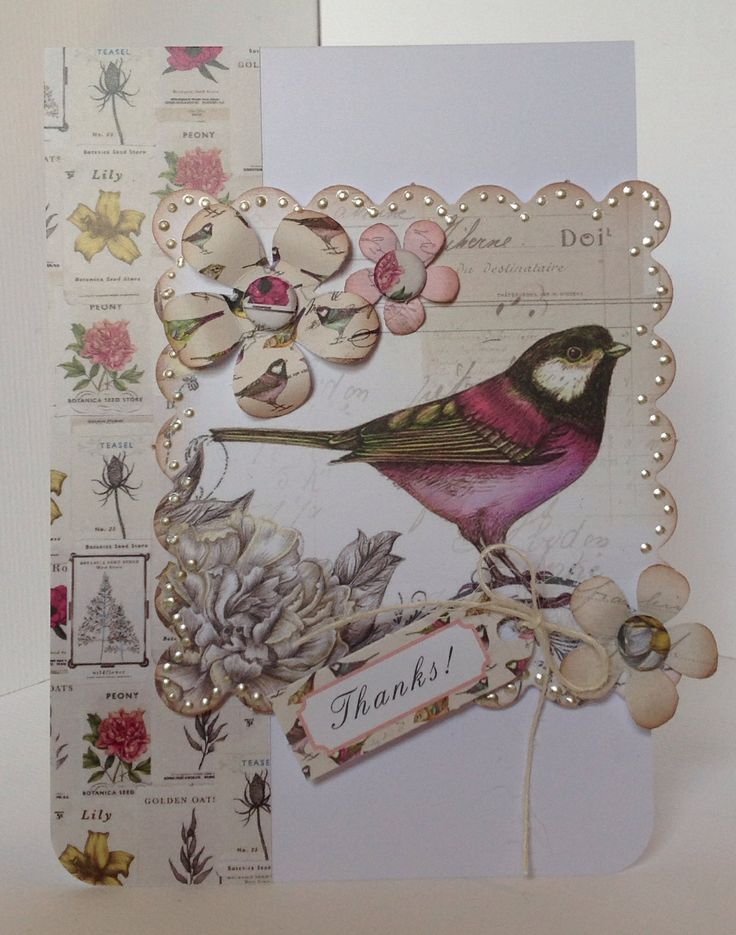 Card designed by Julie Hickey using Botanica collection.