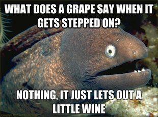 Bad pun bad joke eel - hahahaha