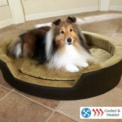 Dolce Vita DuoTemp Heating and Cooling Dog Bed Cool Bed & Heated Bed - In One Package!. Pets get overheated, too. Now they can cool off in style. The Duo Temp provides cool air when pets are stressed from exposure to a warm environment or strenuous activity.. Low-level warmth provides relief for sore joints and muscles, stimulates circulation and can help reduce anxiety.. Therapeutic Foam Padding ... #Dolce_Vita #Pet_Products
