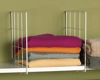 closetWire Shelves, Organic Shoes, Closets Organic, Shelf Dividers, Master Closets, White Wire, Wire Shelf, Organic Closets, Linens Closets