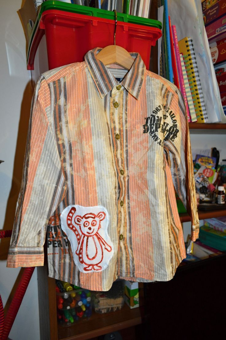 Luxusní+outdoorová+košile+kluk/holka+Krásná,+kvalitní+košile+Tom+Tailor+vel.+104-110,+s+novou+malovanou+aplikací+lemura...+.+Šířka+v+volně+v+podpaží+2x30,+délka+43+cm.+100%+bavlna.+Vhodné+i+jako+dárek.+Náhradní+knoflíčkyu+na+štítku,+opravdu+luxusní+kousek!
