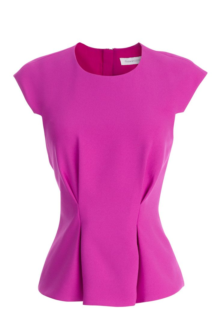 FINDERS KEEPERS Magenta Structured Top