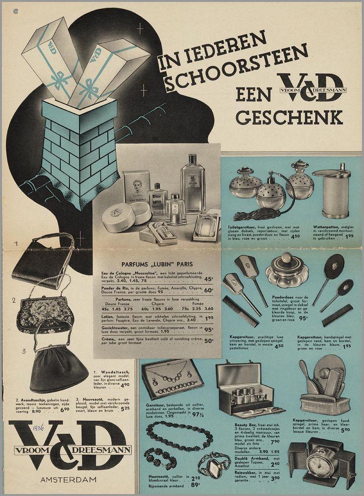 In iedere schoorsteen een V&D geschenk, 1936
