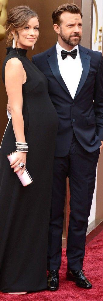Olivia Wilde & Jason Sudeikis In Valentino (Wilde) and Prada (Sudeikis)@ Academy Awards 2014 | LBV ♥✤