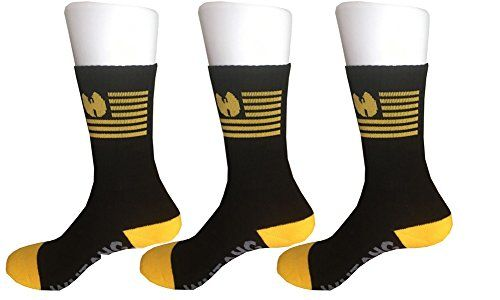 Sherry007 Mens WuTang Clan Classic Logo Cotton Crew Socks F 3Black >>> Click image for more details.Note:It is affiliate link to Amazon.