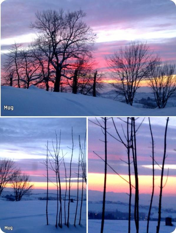 Winter sunset in Langhe (Italy). Magic.  Photo@BarbaraMugnai