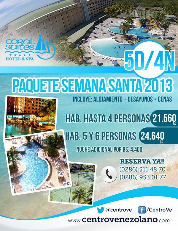 Tenemos el mejor paquete para tí, en esta #SemanaSanta, 5D/4N, en el Coral Suite Hotel & Spa, ubicado en Chichiriviche #Venezuela #Turismo        Cupos Limitados..... ¡¡Reserva YA!!