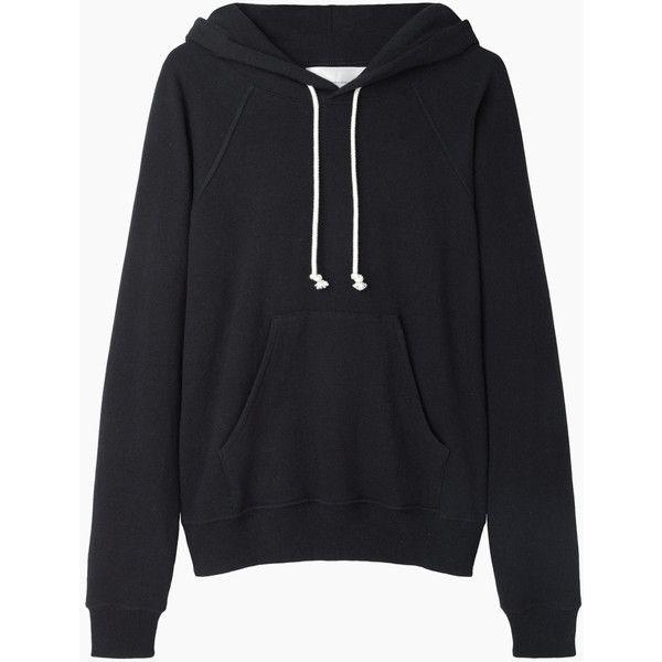 La Garçonne Moderne Boy Hooded Sweatshirt ($245) ❤ liked on Polyvore featuring tops, hoodies, sweatshirts, sweaters, jackets, black top, slouchy sweatshirt, hoodies sweatshirts, raglan hoodie and sweatshirts hoodies