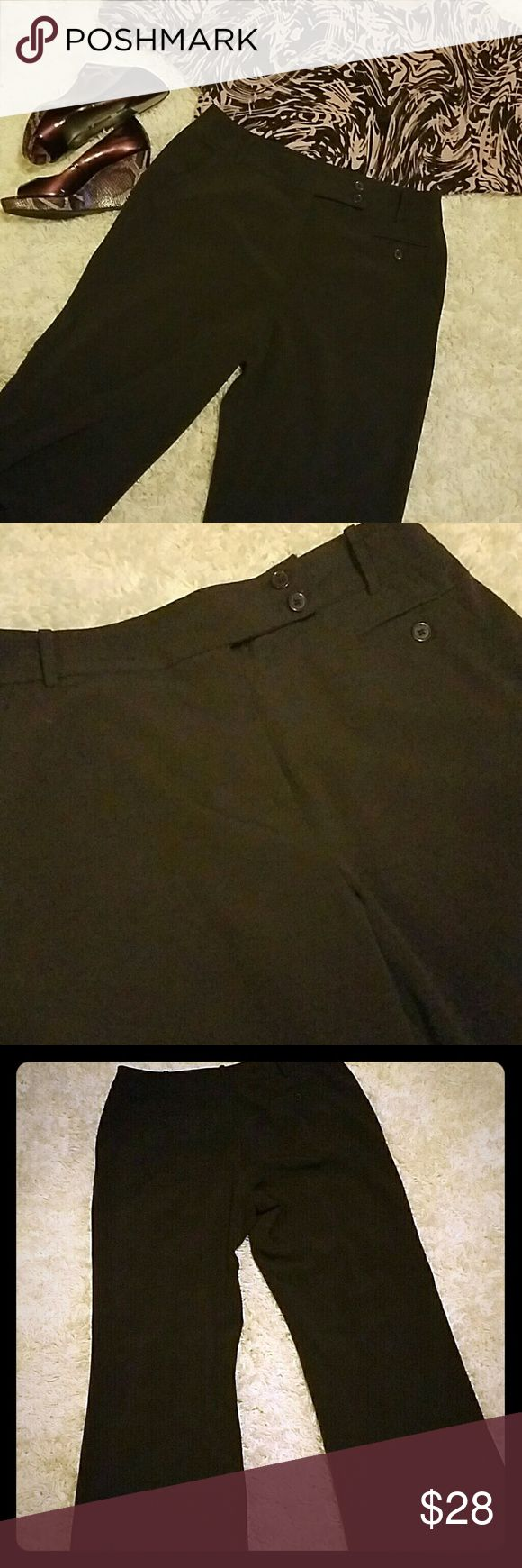 """Larry Levine brown stretch dress pants Larry Levine brown stretch dress pants measure 36"""" waist 40"""" hips 31"""" inseam and are a great year round addition to your closet? Larry Levine Pants Straight Leg"""