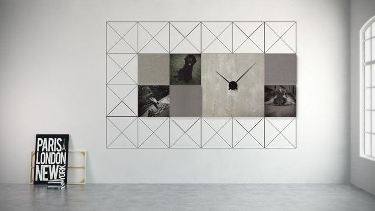 """Een ontwerp van Laura V: """"Funcioneel als klok, design door de verschillende structuren en materialen, dierbaar door foto's"""""""