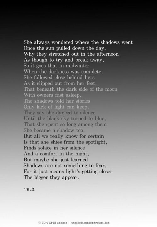 Shadows. #poem #poetry thepoeticunderground.com
