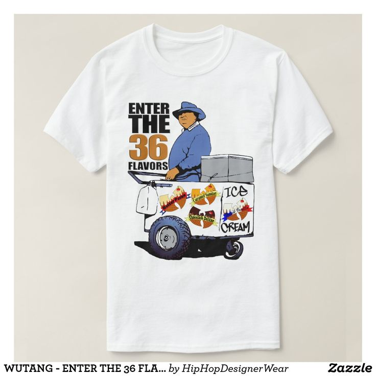 WUTANG - ENTER THE 36 FLAVORS ICE CREAM CART T-Shirt