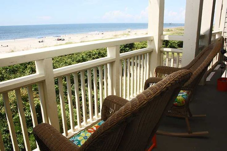Oak Island Vacation Rentals | Caswell Beach Vacation Rentals | Balcony at the Beach #1008 |  (2 Bedroom Oceanfront Condo)