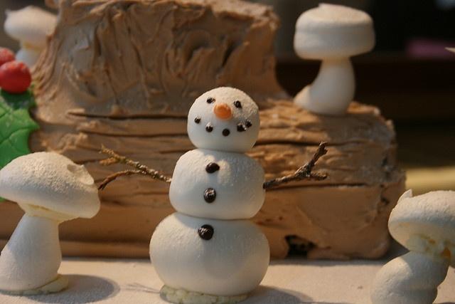 Meringue snowman.