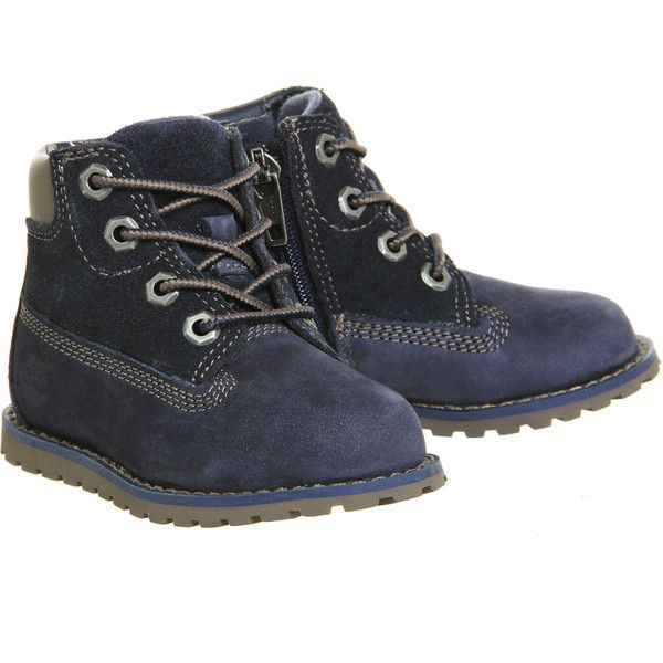 Timberland Pokey Pine 6 Inch Boots Navy ($72) ❤ liked on Polyvore featuring shoes, boots, timberland shoes, navy shoes, timberland boots, timberland footwear and navy blue boots