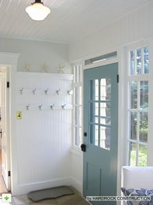 light blue door