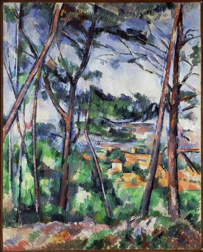 "Paul Cézanne (French, Post-Impressionism, 1839–1906): Landscape Near Aix, The Plain of the Arc River; 1892-1895. Oil on canvas, 82 x 66 cm. Carnegie Museum of Art, Pittsburgh, Pennsylvania, USA. ""Painting from nature is not copying the object; it is realizing one's sensations."" (Paul Cézanne)"