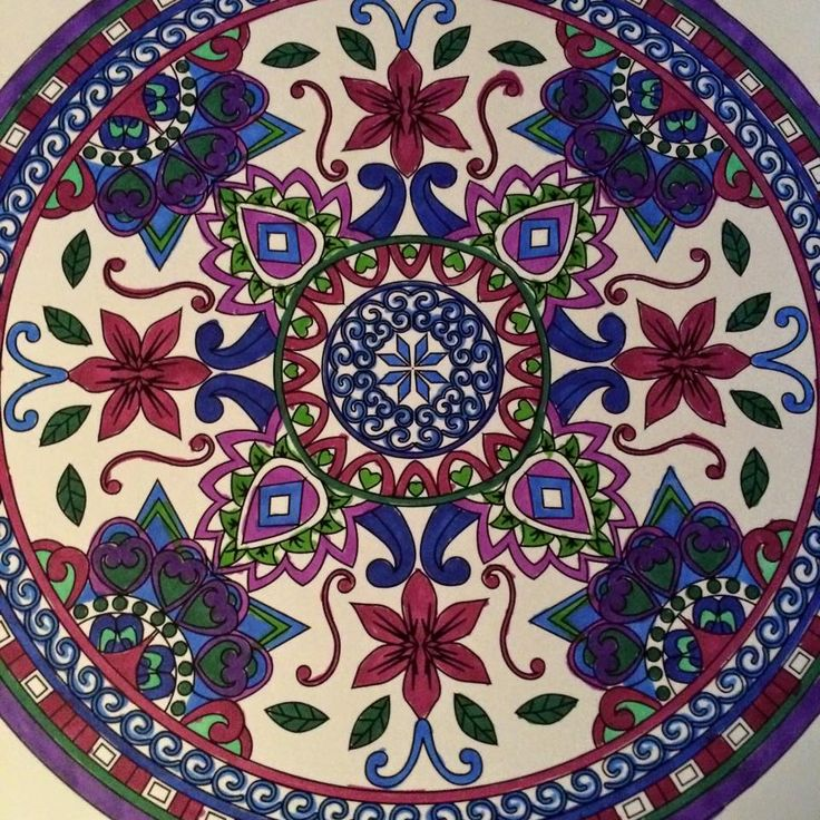 ColorIt Mandalas to Color Volume 1 Colorist: Edna Santangelo Phelps #adultcoloring #coloringforadults #mandalas #mandala #coloringpages