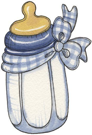 Laurie Furnell - baby bottle - blue