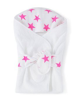 ADEN + ANAIS Fluo Pink Star Baby Bath Wrap. Shop here: http://www.tilltwelve.com/en/eur/product/1066823/ADEN-ANAIS-Fluo-Pink-Star-Baby-Bath-Wrap/