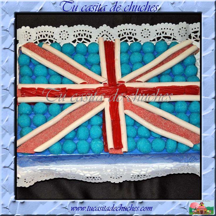 Tarta de chuches bandera de Inglaterra